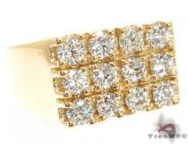 Mens Bold 12 Stone Gold Pinky Ring メンズ ダイヤモンド リング