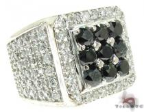 Black and White Diamond Premiere Ring Mens Black Diamond Rings