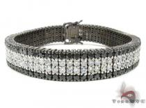 Black and White Diamond Paulie Bracelet 2 Featured Bracelets