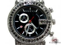 Fully Iced Black Diamond Gucci 101G Chrono YA101309 Gucci グッチ
