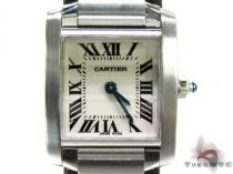 Pre-Owned Ladies Cartier Tank Francaise Watch W51008Q3 Cartier Diamond Watches