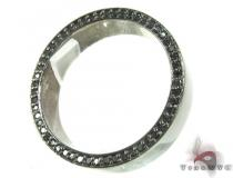 Black Gold Back Diamond Eternity Prong Ring メンズ ダイヤモンド リング