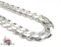 Silver Miami Link Chain 22 Inches 9mm 66 Grams Silver