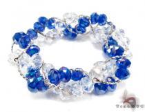 Blue Crystal Bead Bracelet ジェムストーン ブレスレット
