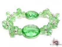 Green Crystal Bead Bracelet ジェムストーン ブレスレット