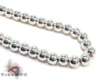 Silver Bead n 30 Inches, 7mm, 80.6 Grams シルバーチェーン