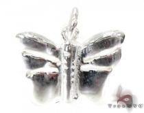 Childs Silver Butterfly Pendant 19592 Metal