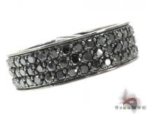 3 Row Black Diamond Ring メンズ ダイヤモンド リング