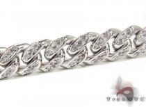 Diamond Miami Link Chain and Bracelet Set ダイヤモンド チェーン