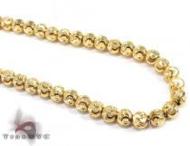 Yellow Gold Moon Cut Chain 18 Inches 3mm 16.4 Grams Gold
