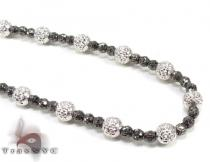 Black Rhodium Moon Cut Chain 18 Inches 4.5mm 16.7 Grams ゴールド チェーン