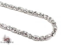Thin Moon Cut Chain 20 Inches 2mm 12.9 Grams ゴールド チェーン