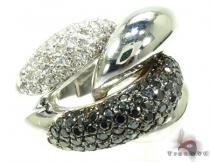 Black and White Diamond Ring 19859 Anniversary/Fashion