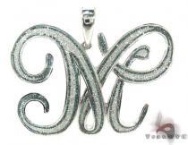 Diamond Initial M Pendant Diamond Initial Pendants