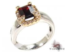 Ladies Silver Garnet Gemstone Ring 19962 Silver Rings For Women