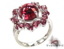 Ladies Silver Gemstone Ring 19966 Silver Rings For Women