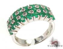 Ladies Silver Emerald Gemstone Ring 19969 Silver Rings For Women