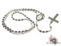 Black and White Diamond Rosary 20123 ダイヤモンド ロザリオ チェーン