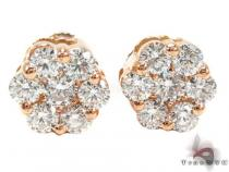 Rose Gold VS Floweret Studs Diamond Earrings For Women