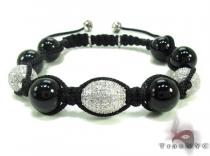 Diamond and Onyx Bracelet 20303 Rope Bracelets
