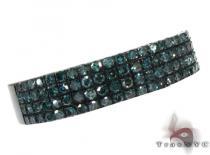 4 Row Blue Diamond Ring 20438 Anniversary/Fashion