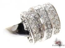 Ladies White Gold Pave Invisible Diamond Ring 20810 レディース ダイヤモンド リング