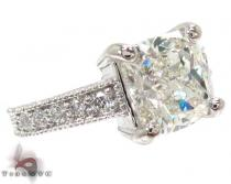 Ladies White Gold Princess Round Cut Diamond Ring 20914 ダイヤモンド 婚約 結婚指輪
