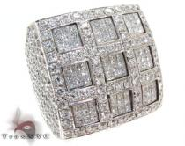 Invisible Square XL Ring Mens Diamond Rings
