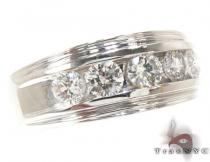 Mens White Gold Channel Diamond Ring 21041 Mens Diamond Wedding Bands