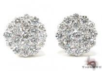 Ladies Cluster Diamond Stud Earrings 21049 レディース ダイヤモンドイヤリング