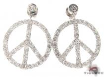 Peace Sign Earrings 21187 Diamond Earrings For Women