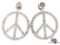 Peace Sign Earrings 21187 レディース ダイヤモンドイヤリング