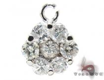 Ladies Flower Diamond Pendant 21227 Stone