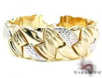 Ladies Two Tone Gold Bracelet 21300 Gold
