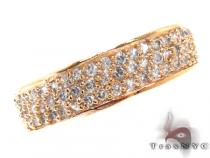 Pave Clear CZ Gold Plated Eternity Ring 21315 Silver Rings For Women