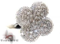 Clear Pave CZ Flower Ring 21317 レディース シルバーリング