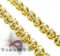 Yellow Gold Prong Chain 32 Inches, 5mm, 90.30 Grams Diamond Chains
