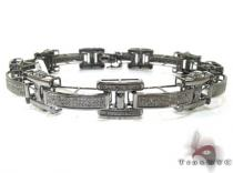 Mens Micro Pave Black Diamond Baracelet 21392 メンズ ダイヤモンド ブレスレット