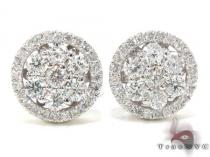 Ladies Prong Diamond Earrings 21407 Diamond Earrings For Women
