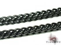 Mens Stainless Steel Black Chain 40 Inches, 8mm 254.3 Grams Stainless Steel Chains