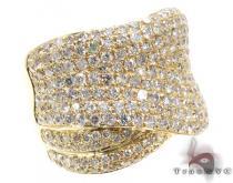 Unisex Yellow Gold Pave Diamond Ring 21504 メンズ ダイヤモンド リング