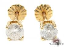Prong Diamond  Earrings 21680 Mens Diamond Earrings
