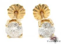 Prong Diamond  Earrings 21680 メンズ ダイヤモンドイヤリング ピアス