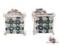 2 Color Diamond Earrings 21733 Stone