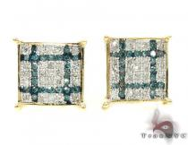 2 Color Diamond Earrings 21737 Mens Diamond Earrings