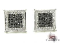 2 Color Diamond Earrings 21740 Mens Diamond Earrings