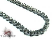 Black Diamond Polar Iced Chain 32 Inches 4mm 49.3 Grams Diamond Chains