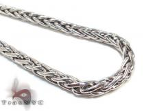 Mens Silver Chain 38 Inches 7mm 89.3 Grams Silver Chains