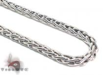 Mens Silver Chain 40 Inches 4mm 40.5 Grams シルバーチェーン