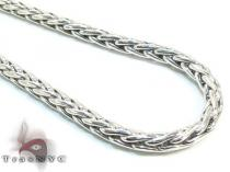 Mens Silver Chain 24 Inches 3mm 17.6 Grams シルバーチェーン